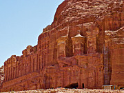 Tombs Digital Art - Tombs of the Kings in Morning Light in Petra by Ruth Hager