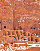 Tombs Digital Art - Tombs of the Kings in Petra by Ruth Hager