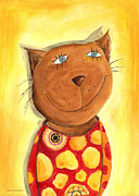 Tom Boy Painting Framed Prints - Tomcat Framed Print by Sonja Mengkowski