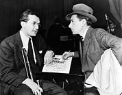 1930s Candid Photos - Tommy Dorsey And Hoagy Carmichael, 1939 by Everett