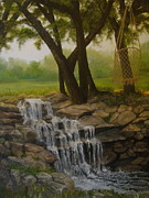 Riverbed Paintings - Tommys Backyard by Linda Scott