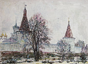 Russia Paintings - Tomorrow spring by Juliya Zhukova