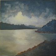 Brent Moody Paintings - tonal seascape II by Brent Moody