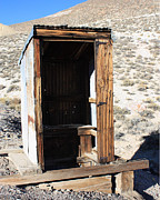 Bodie Out House Prints - Tonapaugh Outhouse Print by Lydia Warner Miller