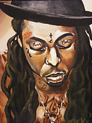 Lil Wayne Paintings - Tonchie by Shane Jackson