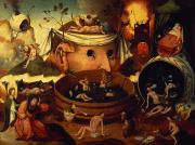 Nightmare Man Paintings - Tondals Vision by Hieronymus Bosch