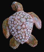 Paper Mache Sculptures - Toni the Turtle by Dan Townsend