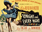 Hayworth Posters - Tonight And Every Night, Rita Hayworth Poster by Everett