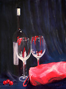 Red Wine Pastels - Tonight by Becky Neideffer