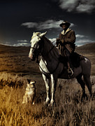 Cattle Dog Art - Tonight We Ride Into The Sunset by Marcie Adams Eastmans Studio Photography