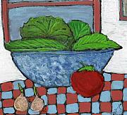 Vegetables Paintings - Tonights Salad by Wayne Potrafka