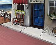 Crabs Paintings - Tonis Crab House by Toni  Thorne