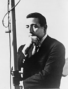 Crooner Framed Prints - Tony Bennett B. 1926 At Microphone Framed Print by Everett