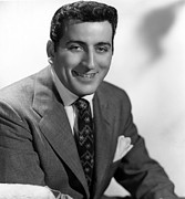 1950s Music Prints - Tony Bennett, C. 1952 Print by Everett