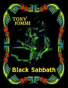 Concert Digital Art - Tony Iommi of Black Sabbath 2 by Ben Upham