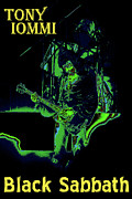 Concert Photos Digital Art - Tony Iommi of Black Sabbath by Ben Upham