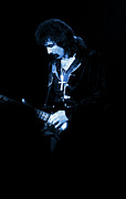 Concert Digital Art - Tony Iommi on Guitar Blue by Ben Upham