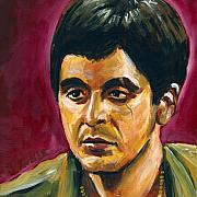 Al Pacino Paintings - Tony Montoya by Buffalo Bonker