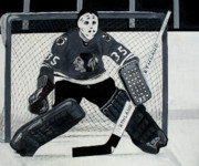 Hockey Paintings - Tony by Pj Artman