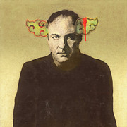 Urban Art Mixed Media Metal Prints - Tony Soprano Metal Print by Cassius Cassini