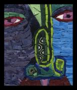 Mosaic Glass Art Posters - Too Many High Notes - FF No. 13 Poster by Gila Rayberg
