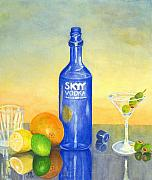Beverage Prints - Too Many Skies Print by Karen Fleschler