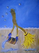 Glove Painting Originals - Too Much Soap by Marian Hebert