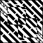 Optical Illusion Drawings - Too Two Square Maze by Yonatan Frimer Maze Artist