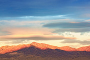 Mountain View Posters - Tooele County Mountains At Sunrise Poster by Tracie Kaska