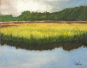 Marsh Scene Paintings - Toogoodoo view by Perry Ashe