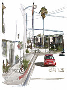 Los Angeles Mixed Media Prints - Tooling around Venice Print by Russell Pierce