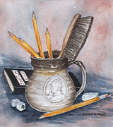 Pencils Paintings - Tools of the Trade by Barbel Amos