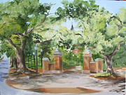 Football Paintings - Toomers Trees in Plein Air II by Jill Holt