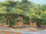 Alabama Painting Posters - Toomers Trees Poster by Jill Holt