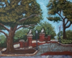 Auburn Paintings - Toomers Trees by Karen Smith