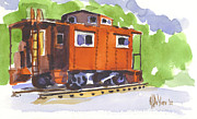 Boxcar Framed Prints - Toot Toot Framed Print by Kip DeVore