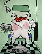Tooth Mixed Media Prints - Tooth Ache Print by Anthony Falbo
