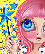 Yellow Fairy Painting Originals - Tooth Fairy by Jaz Higgins