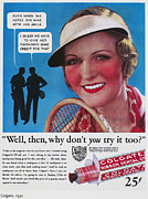 Tennis Art - Toothpaste Ad, 1932 by Granger