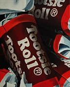 Candy Painting Originals - Tootsie Roll by Andrea Nally