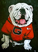 Mascot Painting Metal Prints - Top Dawg Metal Print by Pete Maier