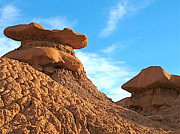 Goblin Digital Art - Top-hatted Goblins on Entrada Trail in Goblin Valley State Park by Ruth Hager