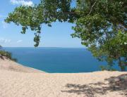 Vacation Lakes Prints - Top of the Dune at Sleeping Bear Print by Michelle Calkins