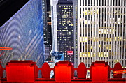 Rockefeller Center Framed Prints - Top of the Rock Framed Print by Gwyn Newcombe