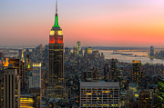Top Of The Rock Twilight X Print by Clarence Holmes