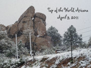 Snow Covered Digital Art Posters - Top Of The World Arizona Poster by Methune Hively