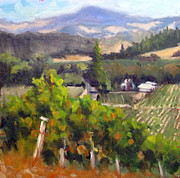 Grapevines Painting Prints - Top of the World Print by Char Wood