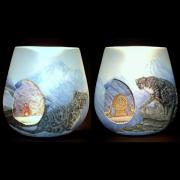 Leopard Ceramics - Top of the World by Susan Raybould