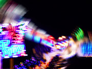 Lights Digital Art Originals - Top Spin by Charles Stuart