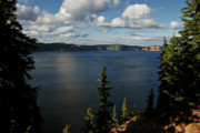 Secluded Mountain Landscape Prints - Top wow spot - Crater Lake in Crater Lake National Park Oregon Print by Christine Till